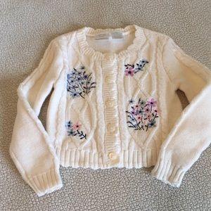 Koala kids 3T Girls button up cable knit sweater